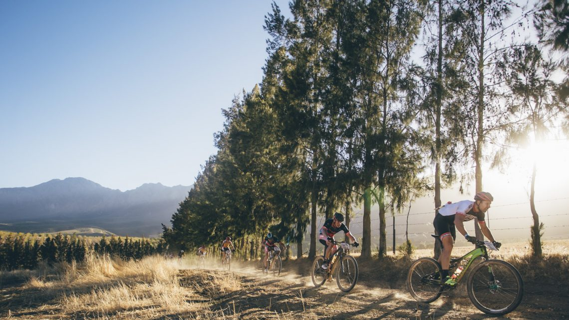 Riders during stage 1 of the 2016 Absa Cape Epic Mountain Bike stage race held from Saronsberg Wine Estate in Tulbagh, South Africa on the 14th March 2016  Photo by Ewald Sadie/Cape Epic/SPORTZPICS  PLEASE ENSURE THE APPROPRIATE CREDIT IS GIVEN TO THE PHOTOGRAPHER AND SPORTZPICS ALONG WITH THE ABSA CAPE EPIC  ace2016